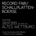 Dresden Record Fair at Altes Wettburo on July 28th 2013