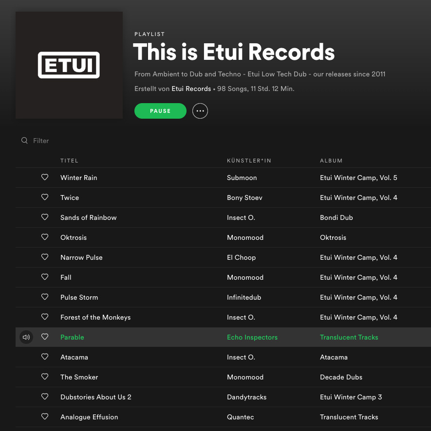 Spotify Playlist: This Is Etui Records
